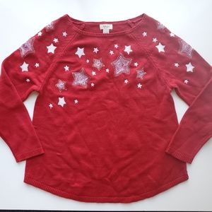 Style & Co Embroidered Holiday Sweater